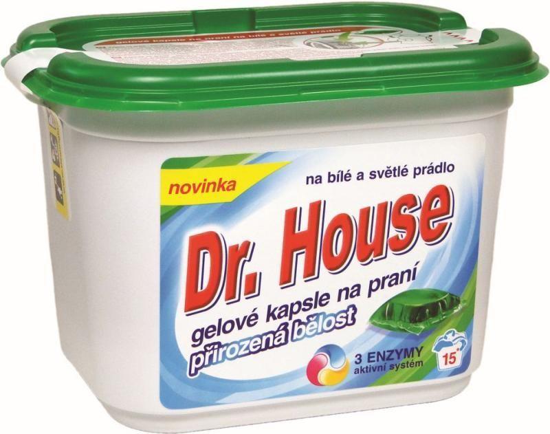 gel, polštářky, kapsle gelové na praní bílého a světlého prádla 15 ks Dr. House Others