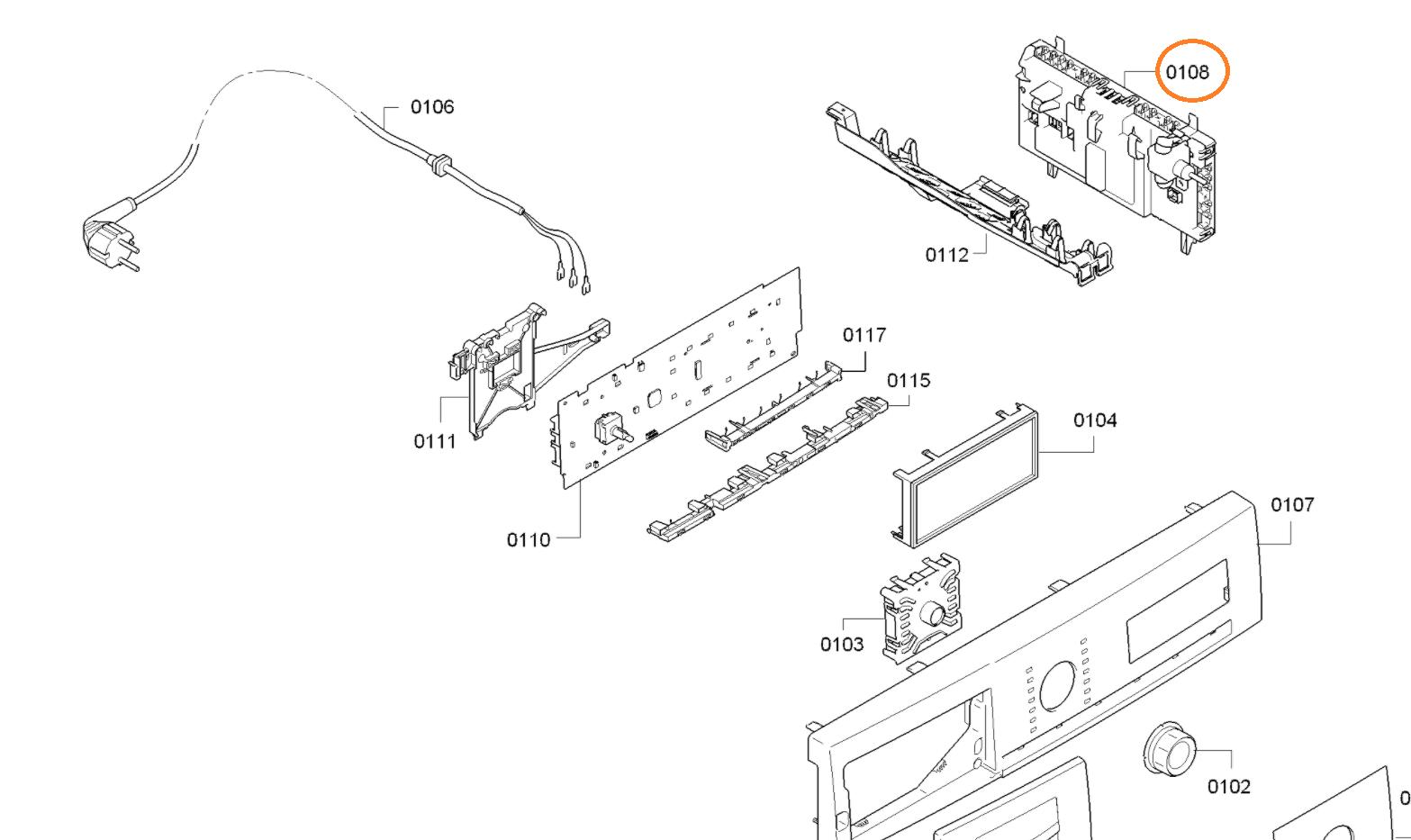 Výkonový modul sušiček Bosch - 00635527 BSH