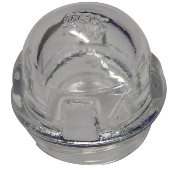 Skleněný kryt žárovky do sušičky Bosch / Siemens - 00606957 BSH