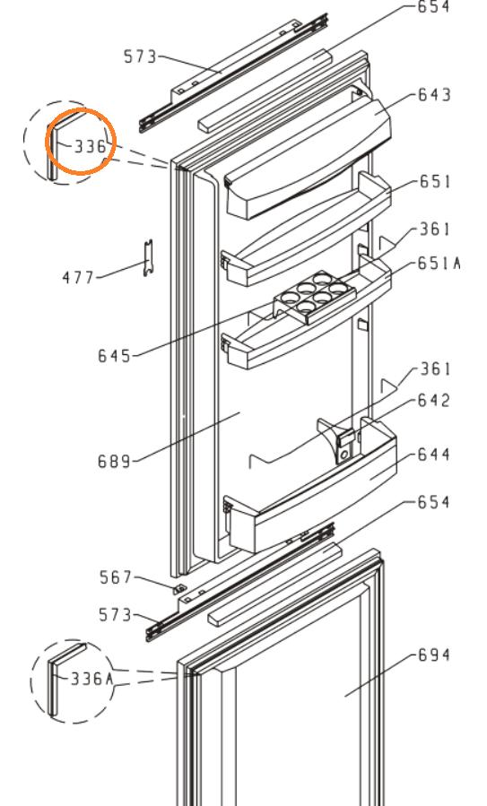 Magnetické těsnění chladniček Gorenje - 250100 Gorenje / Mora