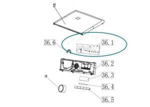 Elektronika řídící do pračky Vestel - 301330660278