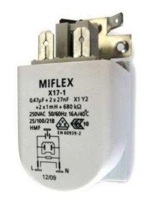Kondenzátor, filtr odrušovací do pračky Bosch Siemens Gorenje Mora - 00623842