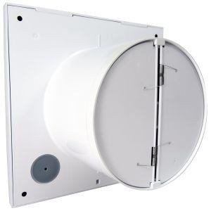 Ventilátor Vent uni VU-100-QF-C - tichý se zpětnou klapkou, základní bez funkcí