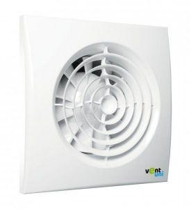 Ventilátor Vent uni VU-125-QF-C-T01 - tichý se zpětnou klapkou, časový spínač, fotočidlo