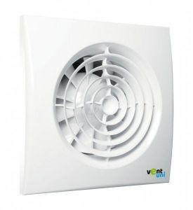 Ventilátor Vent uni VU-125-QF-C-H01 - tichý se zpětnou klapkou, časový spínač, hygrostat