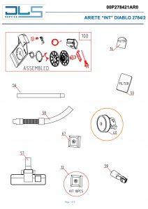 Motor vysavačů DeLonghi Hyundai - AT5165732700