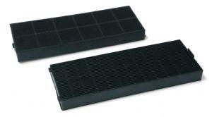 Uhlíkové filtry, 2 ks, 250x90 mm, v 23 mm, odsavačů par Gorenje Mora - 275204