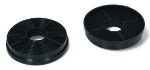 Uhlíkové filtry, 2 ks, průměr 104 mm, odsavačů par Candy Hoover - 49040117